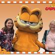 Op de foto met Garfield